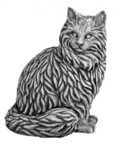 Figura betonowa Kot Z28