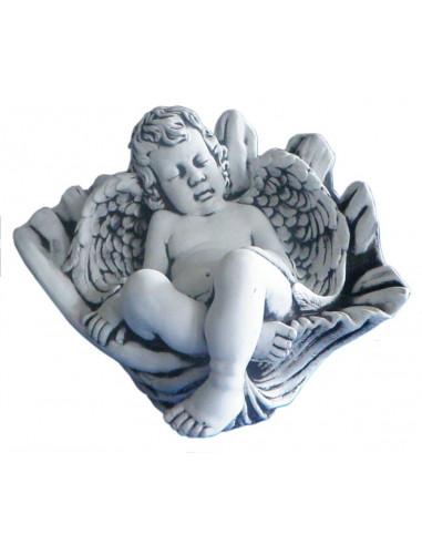 Figura betonowa Anioł w muszli L128