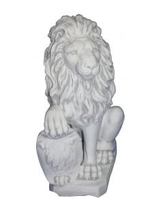Figura betonowa Lew z tarczą lewy Z119